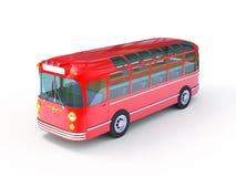 Rétro bus rouge Photo stock
