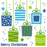 Rétro cadeaux de Noël Photo stock
