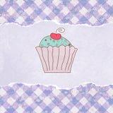 Rétro carte avec le gâteau. ENV 8 Image stock