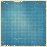 Rétro carte bleue pointillée par image tramée Photo libre de droits