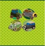 Rétro carte de véhicule de dessin animé Photo stock