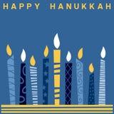 Rétro carte heureuse de Hanukkah [2] Photo libre de droits