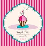 Rétro carte mignonne de gâteau Image stock