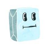 rétro carton de lait de bande dessinée Photo libre de droits