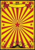 Rétro cirque rouge et jaune Photos stock