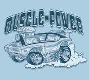 Rétro coureur de voiture de muscle de style Photos libres de droits