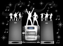 Rétro dessin musical Photos stock