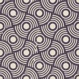 Rétro fond sans couture géométrique, patte de répétition de vecteur de vintage Images libres de droits