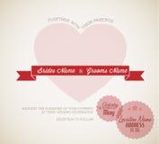 Rétro invitation de mariage de vecteur Photo stock