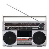 Rétro lecteur de cassettes par radio Photographie stock libre de droits