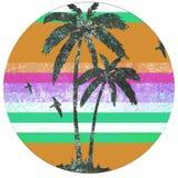 Rétro logo de Palm Beach Photo stock