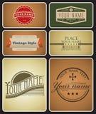 Rétro logos Photo stock