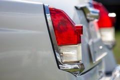 Rétro lumière de queue de voiture Photos libres de droits