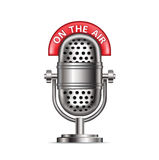 Rétro microphone par radio avec Photos stock