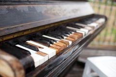 Rétro piano Photographie stock libre de droits