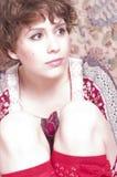 Rétro portrait classique de mode de style de jeune gir de goupille- Photographie stock libre de droits