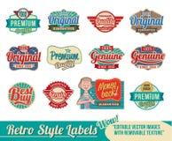 Rétro positionnement d'étiquette Images stock