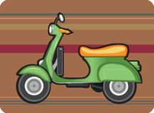 Rétro scooter Photos stock