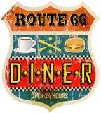 Rétro signe de wagon-restaurant Photo stock