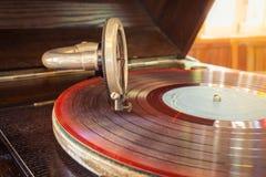 Rétro tourne-disque Photo libre de droits