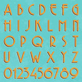 Rétro type police, typographie de vintage Image libre de droits