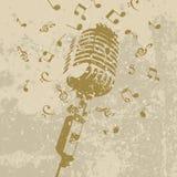 Rétro un microphone Photo stock