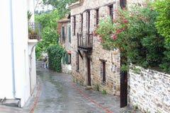 Rétro village de Nikiti de rue de vintage, Chalkidiki Photo libre de droits