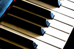 Rétros clés de piano Photo stock
