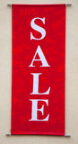 rött försäljningstecken Royaltyfri Fotografi
