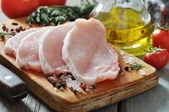 Rått grisköttkött Fotografering för Bildbyråer