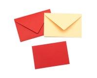 Rött kuvert Arkivfoton