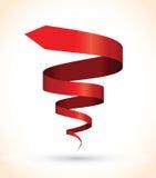 Rött röra sig i spiral bakgrund Royaltyfri Bild