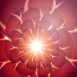 Rött smooth ljusa linjer bakgrund för twisten 10 eps Arkivfoton
