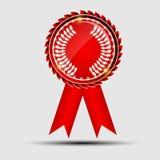 Rött tecken för vektor, etikettmall Royaltyfria Foton