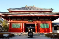 rött tempel Fotografering för Bildbyråer