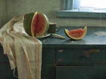 rött vatten för melon Arkivbild