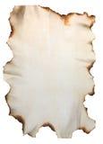 Rußiges Papier mit gebrannten Rändern Lizenzfreies Stockbild