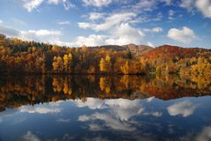 Ružín lake reflecting its beautiful country Royalty Free Stock Image