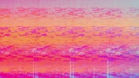 Ruído da neve do pixel de Digitas da tela da televisão video estoque