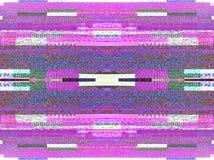 Ruído da televisão de Digitas em um grande scre esperto da tevê do plasma OLED 4K Fotografia de Stock Royalty Free