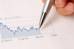 Ruído elétrico de mercado de valores de acção Imagens de Stock
