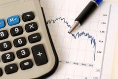 Ruído elétrico de mercado de valores de acção Fotografia de Stock