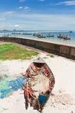 (Ruído elétrico do barco) na praia de Hua - de Hin Foto de Stock Royalty Free