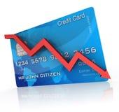 Ruído elétrico do cartão de crédito Imagem de Stock Royalty Free