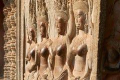 Ruína Angkor Wat, Siem Reap, Camboja Fotografia de Stock