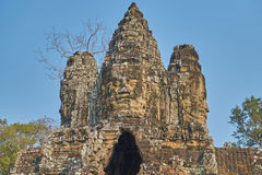 Ruína Angkor Wat, Siem Reap, Camboja Foto de Stock Royalty Free