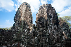 Ruína antiga do templo de Bayon, Angkor Wat Cambodia Imagem de Stock Royalty Free