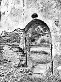 Ruína antiga Olhar artístico em preto e branco Imagem de Stock Royalty Free