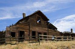 Ruína da casa de rancho Fotografia de Stock