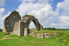 Ruína da igreja imagens de stock royalty free